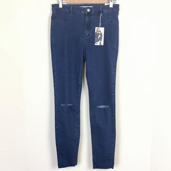 093fc622 Zara Jeans | Nwt Trf High Waist Raw Hem Ankle Skinny | Poshmark